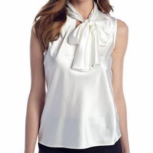 Nine West neck tie blouse